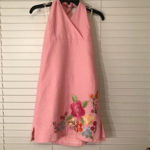 Lilly Pulitzer Girls Pink Halter Dress Sz 16